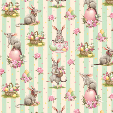 {New Arrival} Devonstone Easter Bilby- Bilby Stripe Mint
