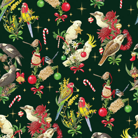 {New arrival} Devonstone Bush Birds Christmas Green
