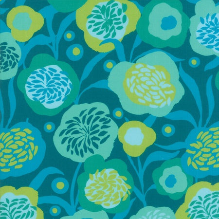 Moda Growing Beautiful RAYON Teal