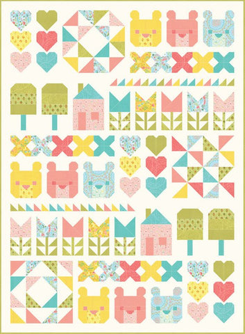"Moda Stacy Iest Hsu Home Sweet Home Quilt Kit 47"" by 64"""