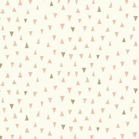 Makower Doodle Days Triangles Pink