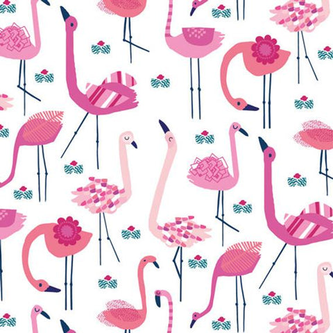 Dashwood Studios Ocean Drive Flamingos White