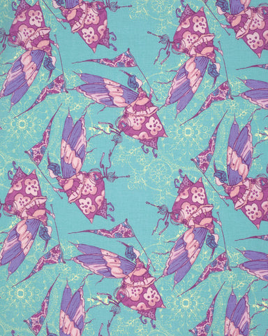 Tina Givens Feather Flock Princess Feather in Aqua
