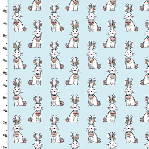 3 Wishes Woodland Tribe Bunny Light Blue