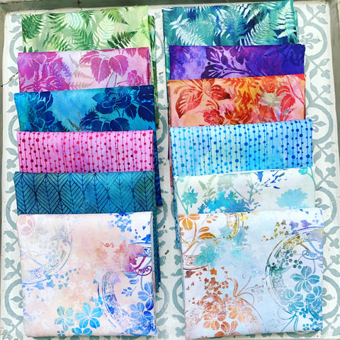 {New Arrival} In the Beginning Garden of Dreams Fat Quarter Bundles x 12 Pieces