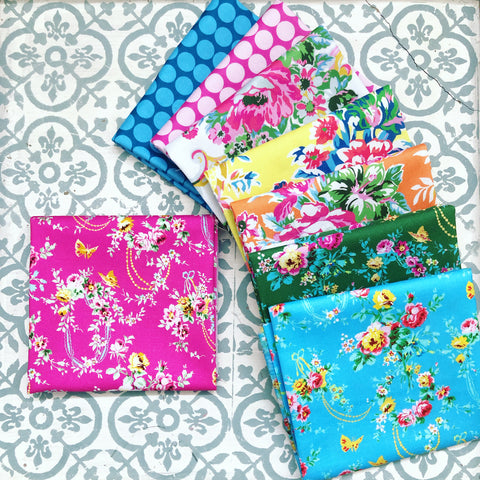 Jennifer Paganelli Sugar Beach Fat Quarters x 8