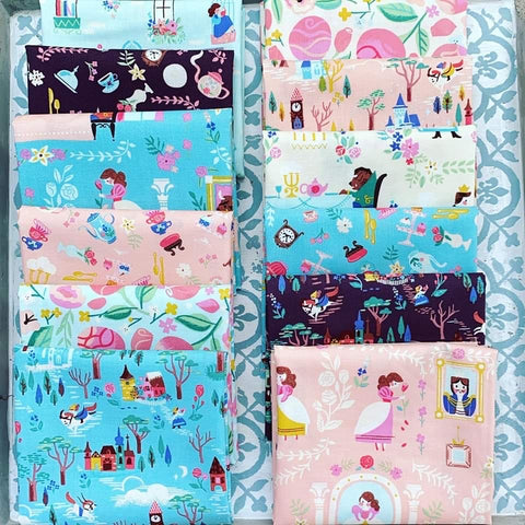 {New Arrival} Riley Blake Beauty & the Beast Fat Quarter Bundle x 12 Fat Quarters