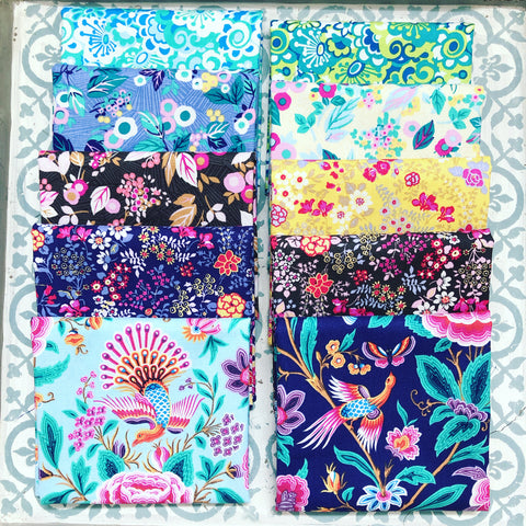 Margot Elena Stories & Sonbirds Fat Quarter Bundle x 10 FQ
