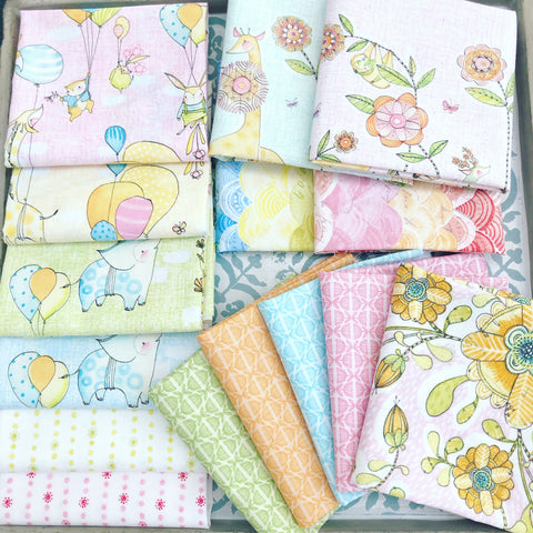Blend Cori Dantini Hello World Series Fat Quarter Bundles x 15 Pieces + 1 Mini Menagerie Panel Design