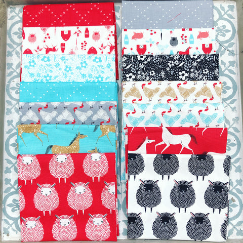 Moda Gingiber Farm Charm Multi Fat Quarter Bundle x 14 Fat Quarters