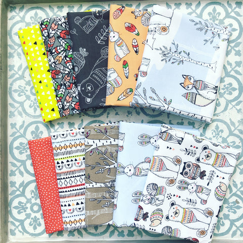 3 Wishes Woodland Tribe Fat Quarter Bundle x10 FQ