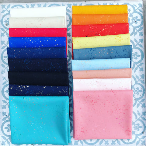 {New Arrival} Moda Ruby Star Society Speckled New Colours Fat Quarter Bundle x 18 Pieces
