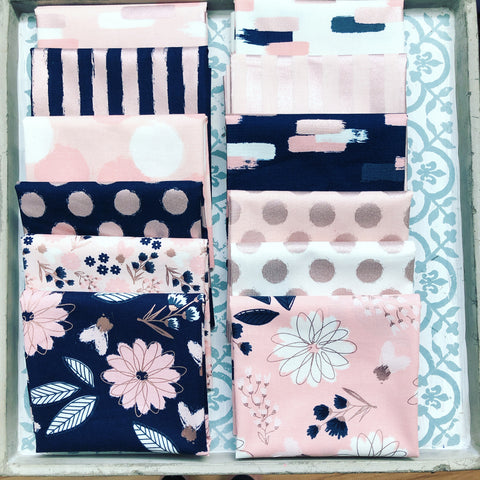 Riley Blake Blush Fat Quarter Bundle x 12 Pieces