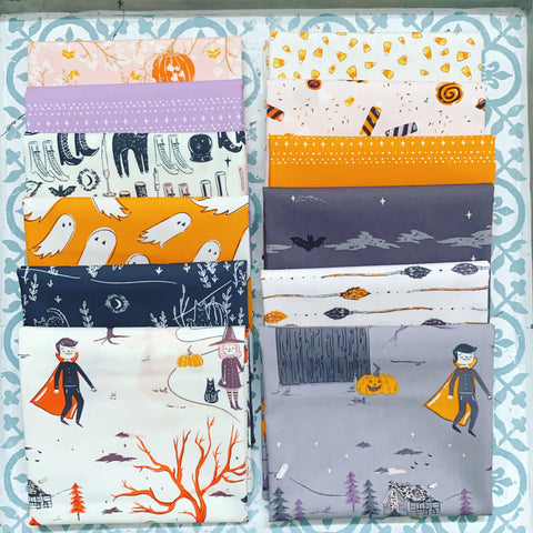 {New Arrival} Art Gallery Spooky 'n Sweet Fat Quarter Bundle x 12 Pieces