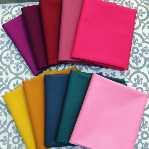 {New Arrival} Art Gallery Mayfair SOLIDS Fat Quarter Bundles x 10 Pieces