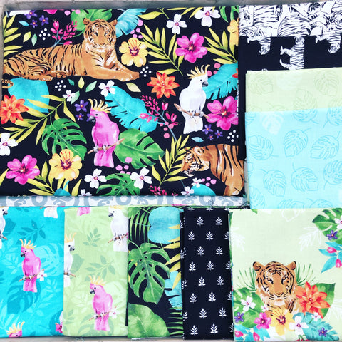 Northcott Tiger Tales Fat Quarter Bundles x 10 Pieces