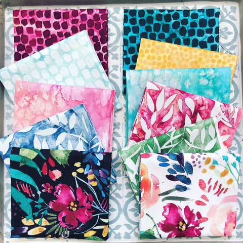 {New Arrival} Moda Brightly Blooming Fat Quarter Bundle x 11 Pieces