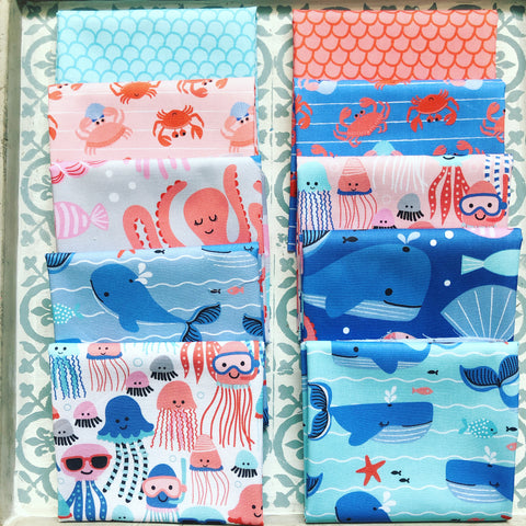 Blend Blend Underwater Fanta-Sea Fat Quarter Bundles x 12