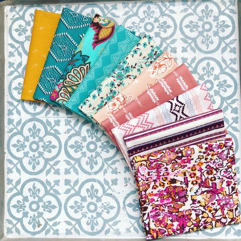 {New Arrival} Art Gallery Curated Bundles Set 11 Fat Quarter Bundles x 10 Pieces