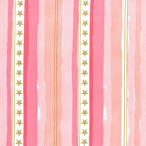 Sarah Jane Magic Metallic Stars & Stripes Pink