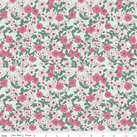 Riley Blake Wonderland 2 Floral Mint