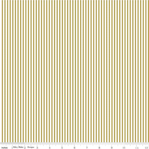 Riley Blake Sparkle Cotton Stripe in Gold Metallic