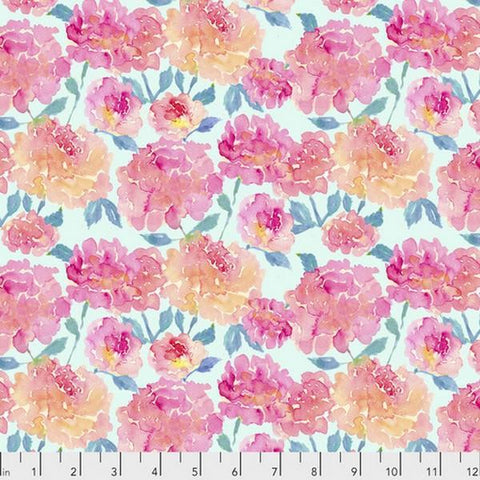 Corrine Haig Peony Pagoda Peonies in Mint Digitally Printed