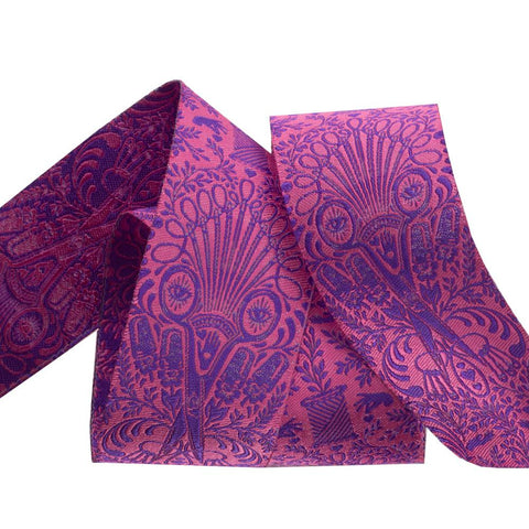 {New Arrival} Tula Pink Homemade Renaissance Ribbon Getting Snippy, Night Purple 1-1/2""
