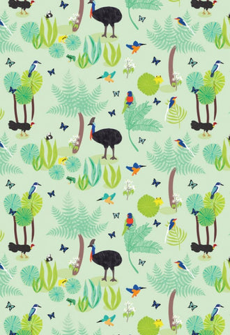 Amanda Brandl Wild Australia  Light Green