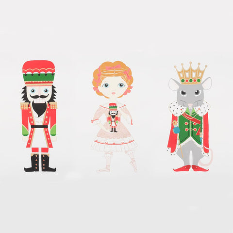 Alexander Henry Nutcracker Panel Red Metallic Print