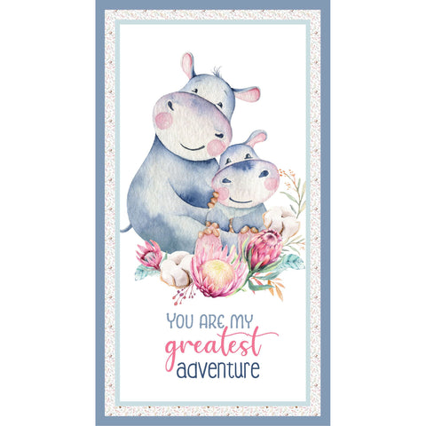 {New Arrival} Devonstone A Mother's Love Hippo Panel