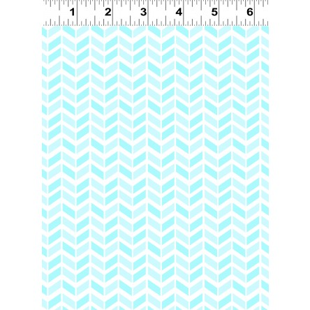 Clothworks Baby Safari Chevron Aqua