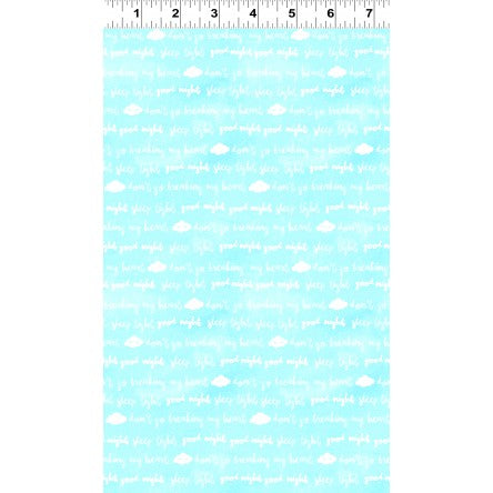 Clothworks Baby Safari Clouds Aqua