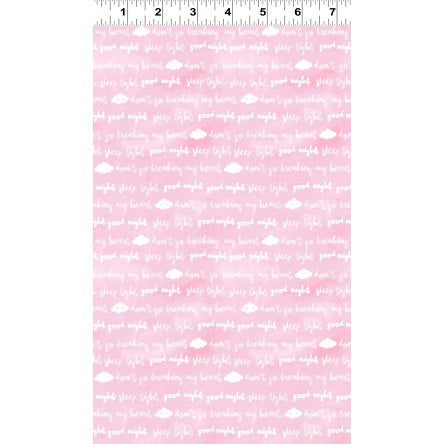 Clothworks Baby Safari Clouds Pink