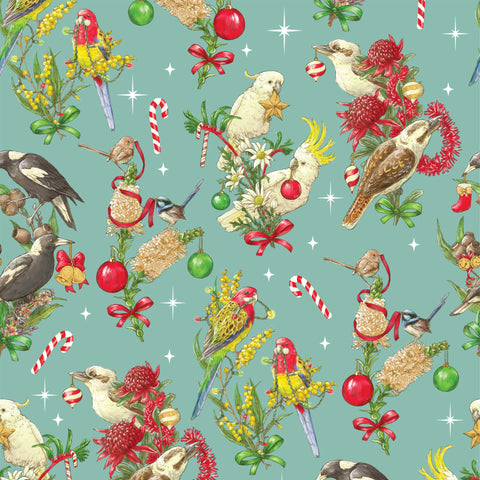 {New Arrival} Devonstone Bush Birds Christmas Blue