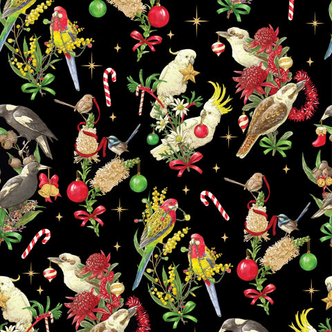 {Remnant 40cm} Devonstone Bush Birds Christmas Black
