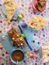 April Baking Box: Gooey Blondies w/Cookie Butter Sauce & Vegan Easter Bark! Delivery Included