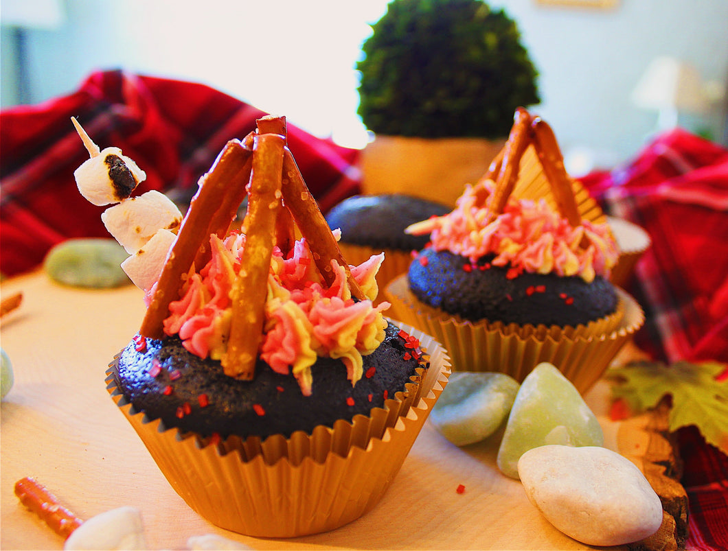 July Baking Box:  Campfire Cupcakes & Vegan S'more Pops!                               Delivery Included