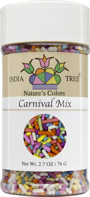 Nature's Colors Sprinkles, Carnival Mix