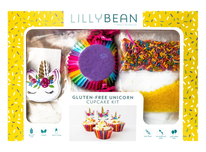 Gluten-Free Unicorn Cupcake Baking Kit (Vegan!)
