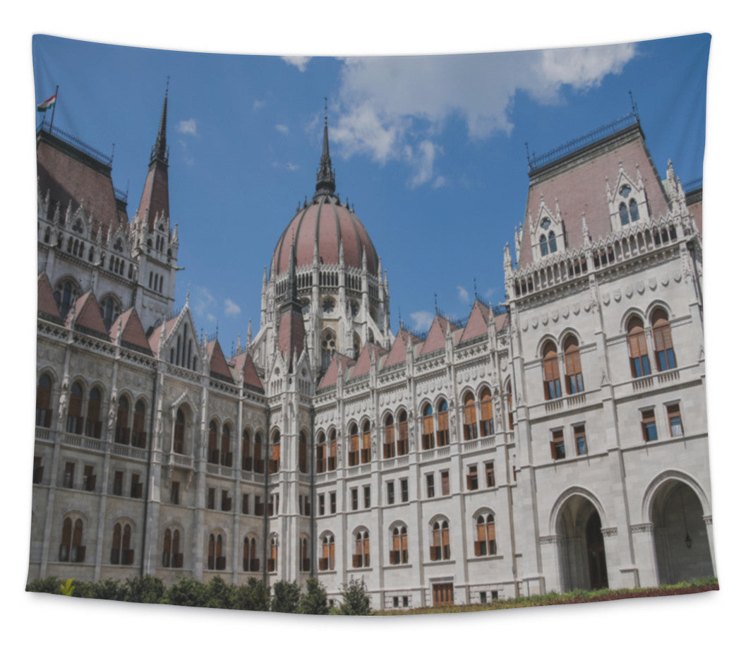Wall Tapestry, The Parliament Building In Budapest Hungary Architectural Details