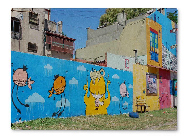 Cutting Board, Street Art In La Boca Neighborhoods