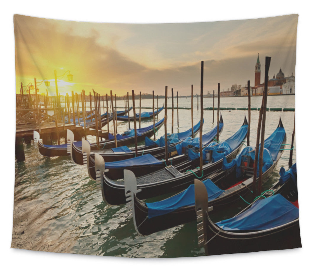 Wall Tapestry, Sunrise In Venice
