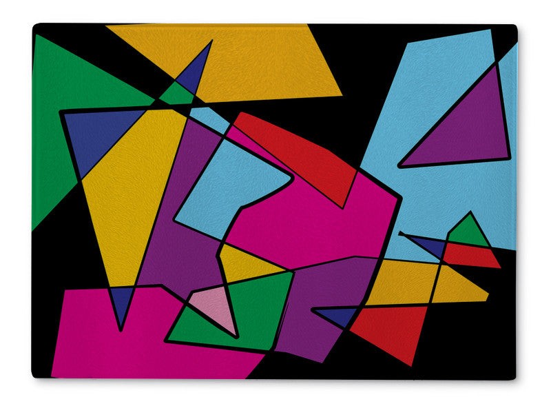 Cutting Board Colorful Cubism Abstract Illustration