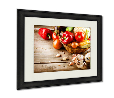 Framed Print Healthy Organic Vegetables Bio Food