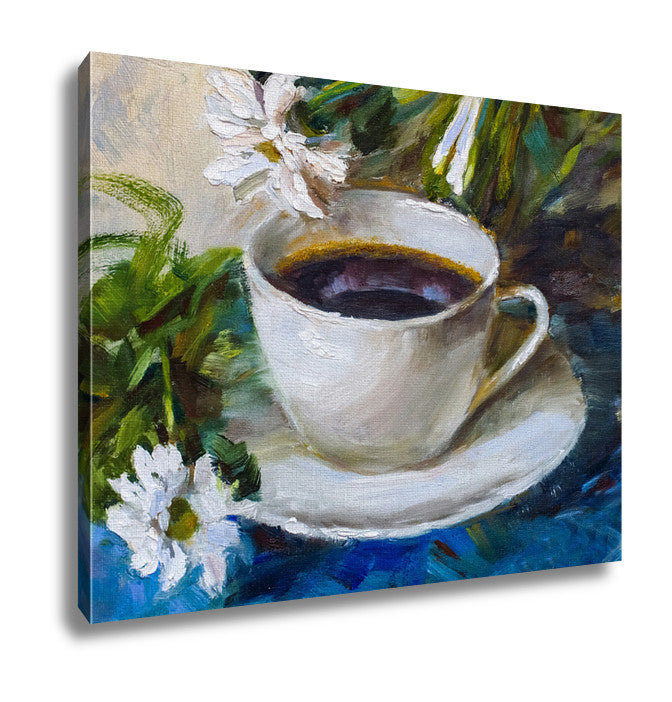 Canvas Painting Oil Painting Still Life A Cup Of Coffee Drink