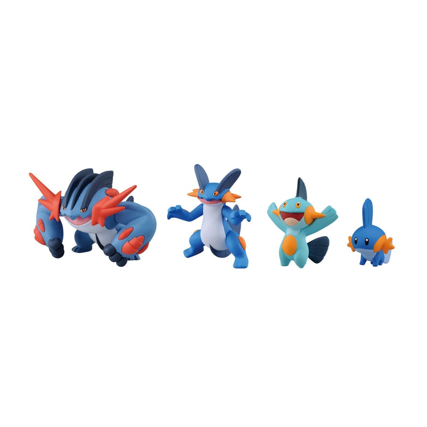 "Takara Tomy Pokemon XY Monster Collection Mega Evolution Sinker 2"" Mega Swampert Action Figure Pack (4 Piece)"