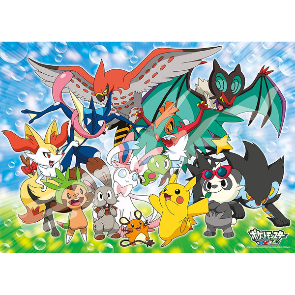 300-piece jigsaw puzzle Pokemon XY & Z Puni-chan and together large piece (38x53cm)