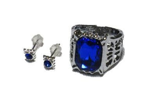 Black Butler Ciel Phantomhive Ring + Earrings Set Costume accessory tool accessories