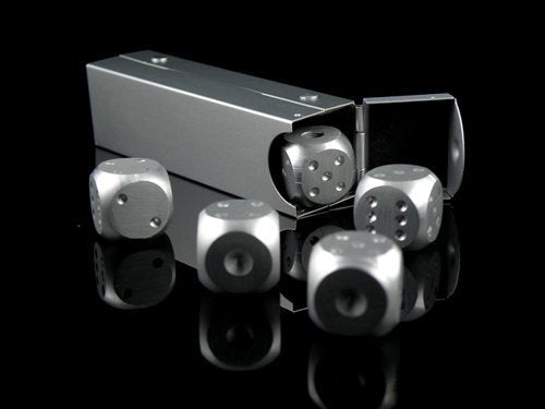 Celebrity metal dice dice cool set of 5 with an exclusive case Jones Original [a85] (The package and the manual are written in Japanese)